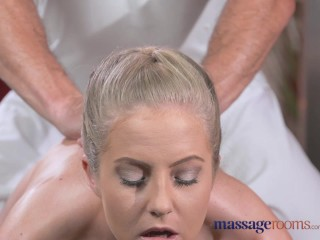 Massage rooms sexy toned blonde has...