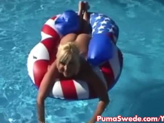 Euro Blonde Puma Swede Gets Big Dick...