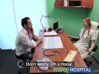 fakehospital-sexy-male-patient-cums-in-dirty-nurses-mouth-on-doctors-desk