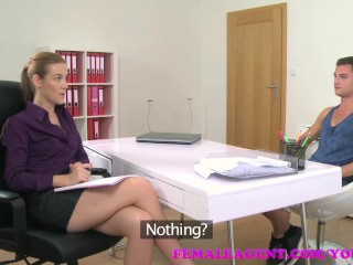 Femaleagent studs cock unloads agents tight pussy...