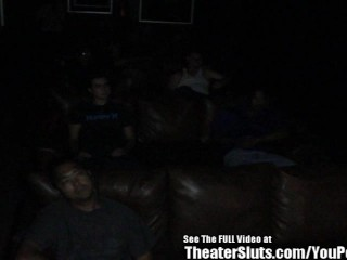 Wild gang porno theater...