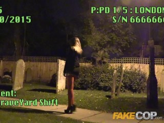 Fake Cop The Graveyard shift Anal sex with a romanian vampire