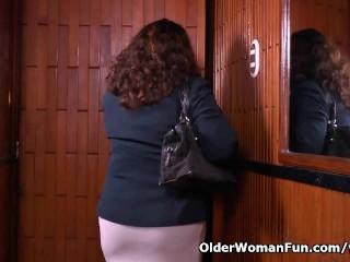 What is granny maribel hiding panties...