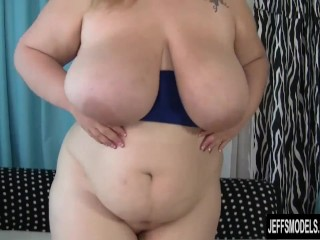 Big titted bbw gets her chubby pussy hammered hard...