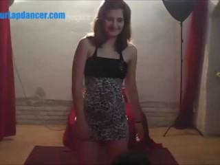 Czech bikini girl lapdances for stranger...