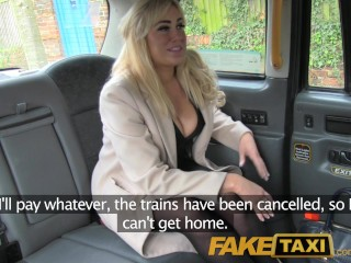FakeTaxi Back seat shagging and surprise creampie pay for taxi fare...