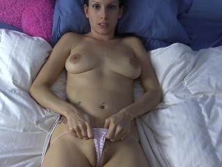 Pov jerking your cock to my naked body then...