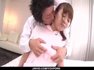 Ai Suzuki, nurse in heats, enjoys patient┤s dick