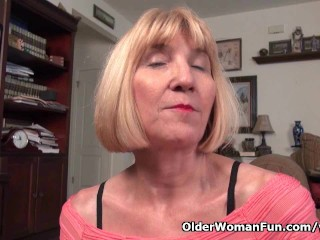 Skinny Grandma Bossy Rider And Shows Her Tight Pussy...