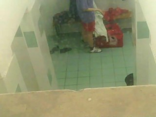 Peeping on naked girls locker room...