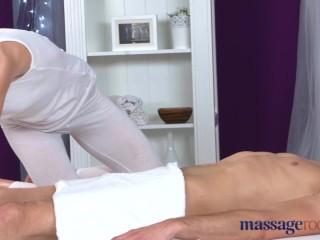 Athletic brunette sucks big dick before orgasmic fuck...