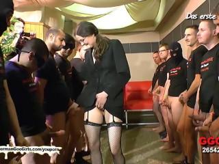 Nerdy Librarian Manu huge gangbang   German Goo Girls!...