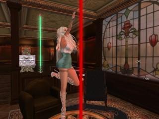 Une jolie blonde qui danse club...