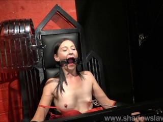 Restrained milf Lolanis amateur bdsm and tied tit tortures of suffering slavegirl in debutant domination session