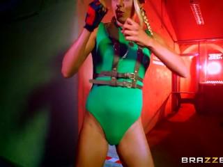 brazzers---sex-fighter:-chun-li-vs.-cammy-xxx-parody