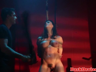 Flogged Chanel Preston banged while tiedup...