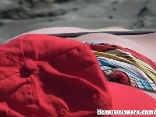 Big Boobs Topless Beach Babes Tanning Naked Beach Voyeur HD